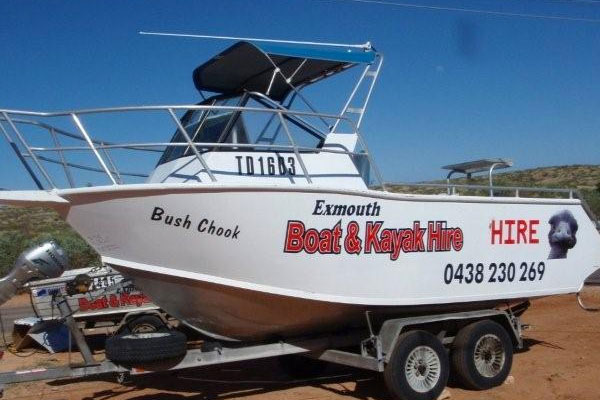 Exmouth Boat Hire 5.5m Hire Boat