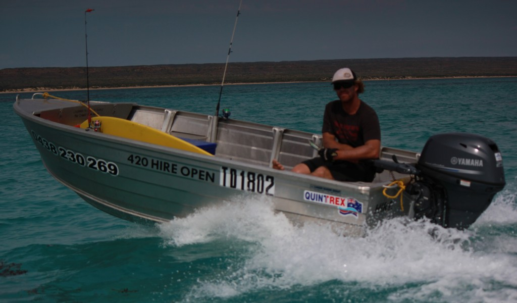 4.2m Dinghy Hire: great for beach launches, surfing & diving
