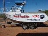 exmouth boat hire: 5.5m forward cabin