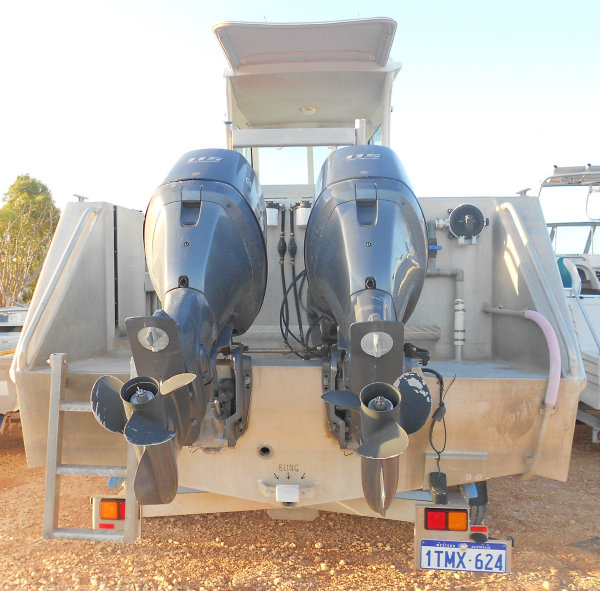 New motors for Exmouth Boat Hire: 7.85m Hire Boat